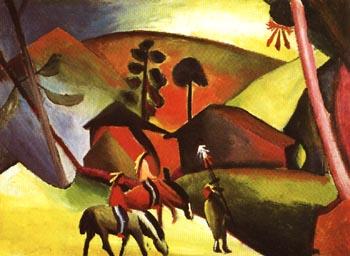 August Macke Indians on Horses 1911