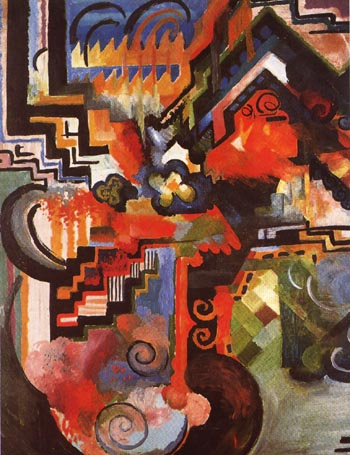 August Macke Coloured Composition 1912