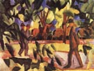 August Macke Riders and Strollers in the Avenue 1914