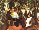 August Macke Garden Restaurant 1912