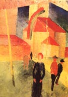 August Macke Church with Flags 1914