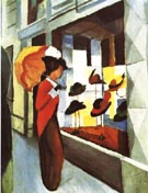 August Macke Hat Shop 1914