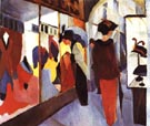 August Macke Fashion Shop 1913