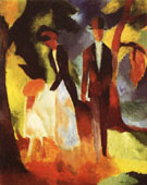 August Macke People by a Blue Lake 1913