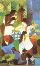 August Macke Turkish Jewel Trader 1914