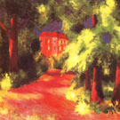 August Macke Red House in a Park 1914