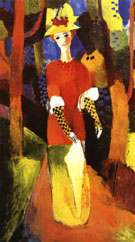 August Macke Woman in Park 1914