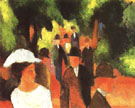 August Macke Promenade (with Half Length of Girl in White) 1914