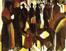 August Macke Leave Taking 1914