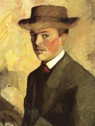 August Macke Self Portrait with Hat 1909