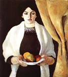 August Macke Portrait with Apples Wife of the Artist 1909