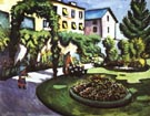 August Macke Garden Picture (The Mackes Garden in Bonn) 1911