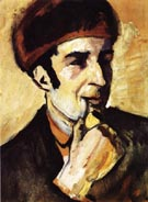 August Macke Portrait of Franz Marc 1910