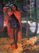 Paul Gauguin Marquesan with Red Hat (The Witch of Hiva Oa)
