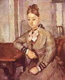 Paul Cezanne Madame Cezanne Leaning on a Table