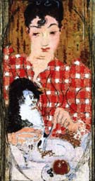Pierre Bonnard Checked Blouse; Portrait of Mme Claude Terrasse, the Artist's Sister 1892