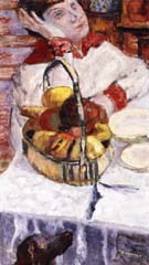 Pierre Bonnard Woman with Basket of Fruit 1915