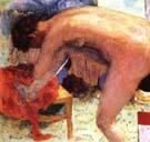 Pierre Bonnard Nude Right Leg Raised 1924