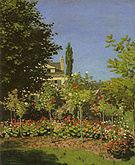 Claude Monet Garden in Bloom at Sainte Adresse 1866
