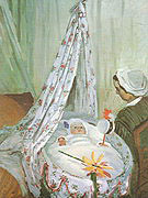 Claude Monet The Cradle Camille with the Artists Son 1867