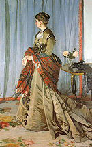 Claude Monet Portrait of Mme Gaudibert Le Havre 1868