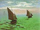 Claude Monet Fishing Boats at Sea Le havre 1868