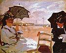Claude Monet The Beach at Trouville 1870