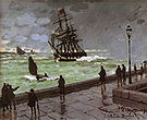 Claude Monet The Jetty at Le Havre Bad Weather 1870