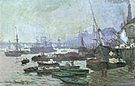 Claude Monet Boats in the Port of London 1871