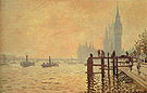Claude Monet The Thames and the Houses of Parliament London 1871