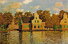 Claude Monet Houses on the Zaan River Zaandam 1871