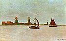 Claude Monet The Voorzaan at Zaandam 1871
