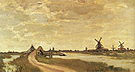 Claude Monet Windmills at Haaldersbroek Zaandam Haaldersbroek 1871