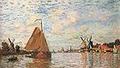 Claude Monet The Zaan River at Zaandam 1871