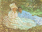 Claude Monet Mme Manet with a Friend in the Garden 1872