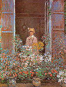 Claude Monet Camille Monet at the Window Argenteuil 1873
