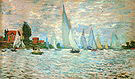 Claude Monet The Boats Regatta at Argenteuil 1874