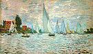 Claude Monet The Boats Regatta at Argenteuil 1874