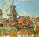 Claude Monet Windmill at Amsterdam 1874
