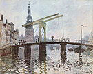 Claude Monet The Drawbridge at Amsterdam 1874