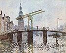 Claude Monet The Drawbridge at Amsterdam 1874