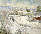 Claude Monet View of Argenteuil Snow 1875