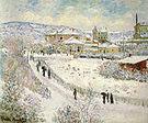 Claude Monet View of Argenteuil Snow 1875