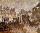 Claude Monet The Pont de l Europe Gare Saint Lazare 1876