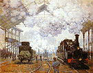 Claude Monet The Gare Saint Lazare Paris 1876