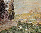 Claude Monet The Bank of the Seine Lavacourt near Vetheuil 1879