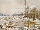 Claude Monet Break up of the Ice Lavacourt 1880