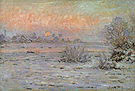 Claude Monet Snow Covered Landscape Dusk 1880