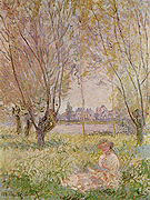 Claude Monet Woman Seated Under the Willows 1880