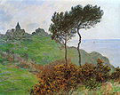 Claude Monet Church at Varengeville Cloudy Weather 1882